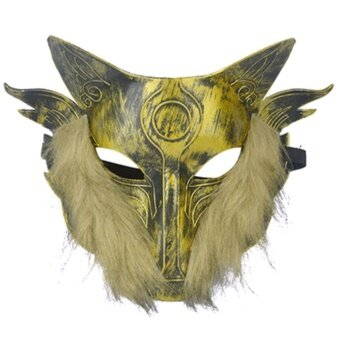 Makeup Mask Dance Birthday Animal Wolves Face Masks Halloweendecoration Spoof wolf party mask - intl