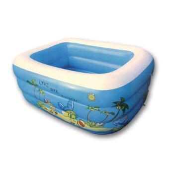 MHF สระว่ายน้ำเด็กเป่าลม 1.2 m. x 0.35 m. รุ่น SL-C012 - สีน้ำเงิน