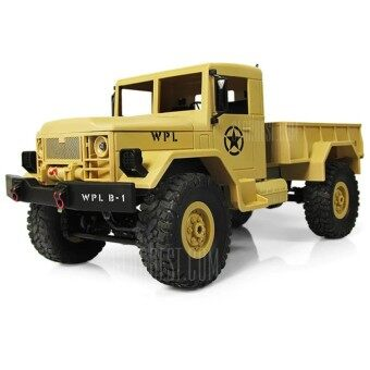 Military RC Truck 2.4G Four Wheel WPLB-14 Off Road Vehicle Remote Simulation Of Military Vehicle Climbing Toy Car Dirt Bike
