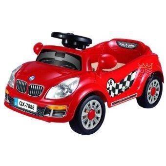 รถแบตเตอรี่เด็กนั่งรถเก๋งมินิบีเอ็ม สีแดง Mini BM Red