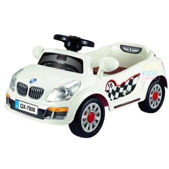 รถแบตเตอรี่เด็กนั่งรถเก๋งมินิบีเอ็ม สีขาว Mini BM White