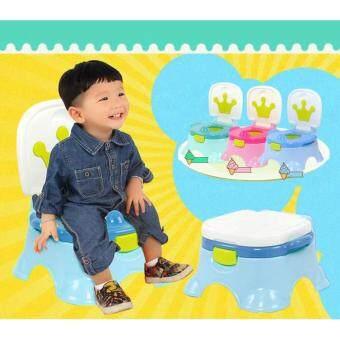 Minlane Kids Blue Potty Toilet กระโถนฝึกเด็กขับถ่าย สีฟ้า