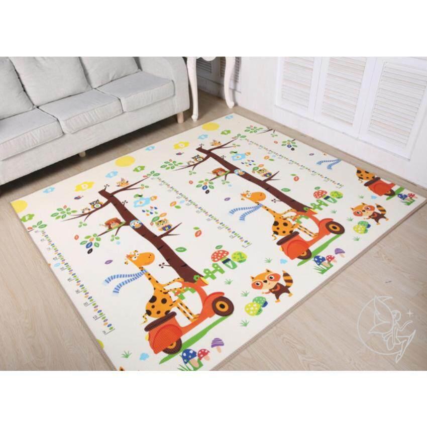 Minlane Kids Giraffe and Squirrel Playmats แผ่นรองคลาน เสื่อรองคลาน ลาย ยีราฟ กับ กระรอก ขนาด 200*180*1 cm. image