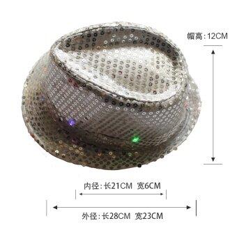 MJ เลื่อม LED เปล่งแสงชายและหญิงหมวกหมวกคาวบอย