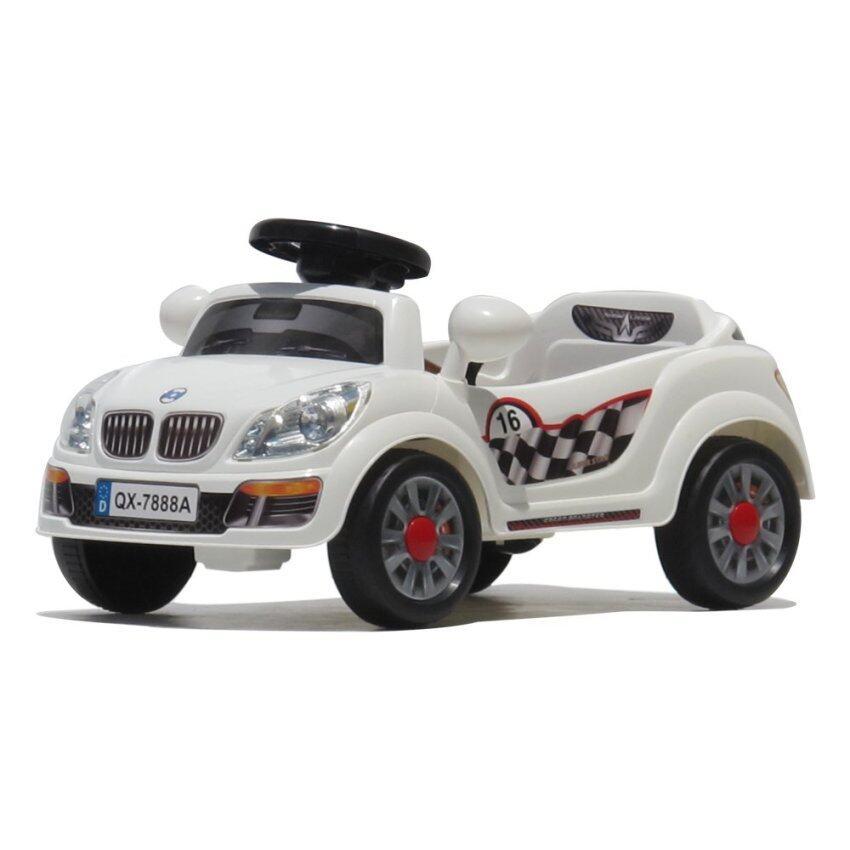 Monkey Toys รถเด็กไฟฟ้า รุ่น BMW ซีรีย์ 3 (สีขาว)