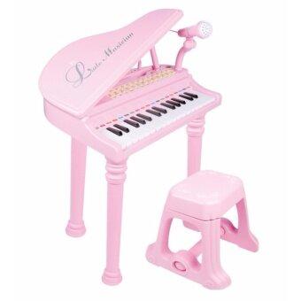 Morestech เปียโนนางฟ้า 19 คีย์ + ไมโครโฟน พร้อมเก้าอี้ (สีชมพู)