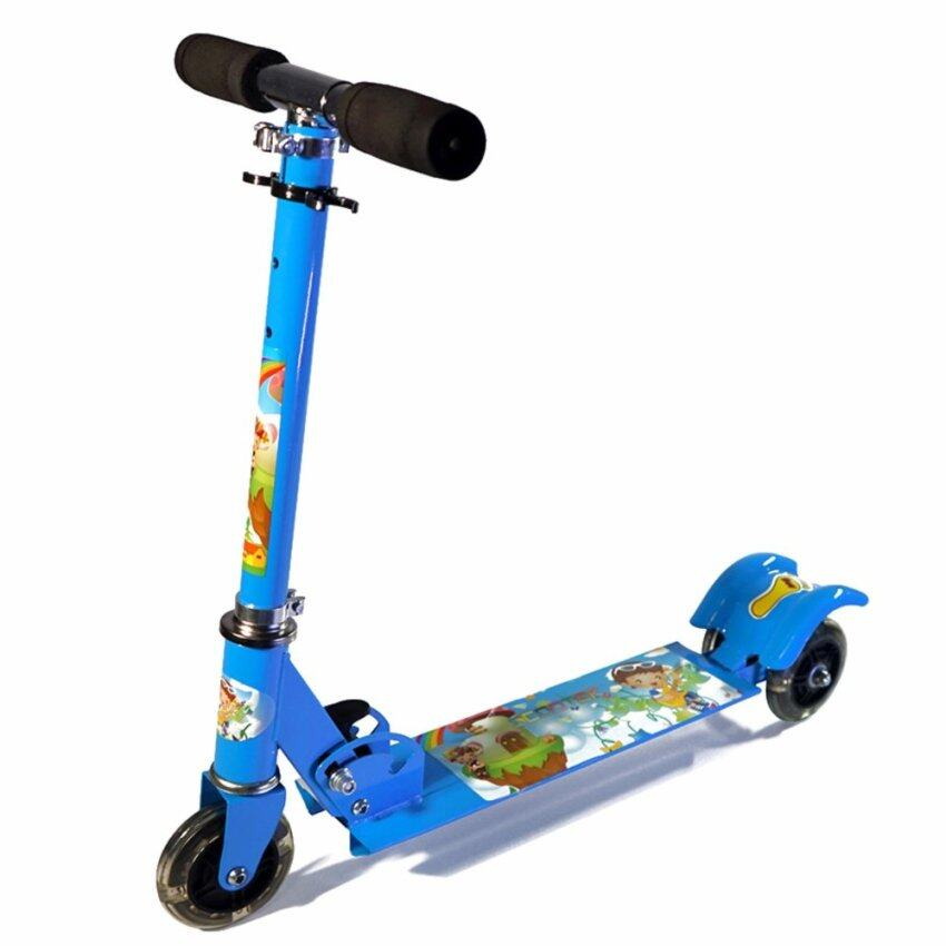 Morestech Scooter for kids สกู๊ตเตอร์ 3 ล้อ มีไฟ พับเก็บได้ (สีน้ำเงิน)