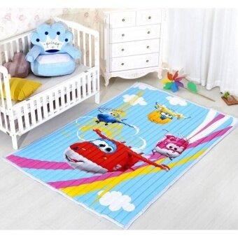 nanarak แผ่นรองคลานจากผ้า ลายน่ารัก มีกันลื่นด้านล่าง นอนเล่นสะอาด ซักได้ ขนาด 150*200*3 cm