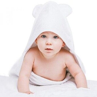Natural Baby Bamboo Towel (30x30\) by ILOVEMYBABY Hooded Kids Towel with Cute Teddy Ears Incredibly Soft Super-Absorbent - Safe in Washer and Dryer- Great Shower Gift Bonus Bib Included - intl