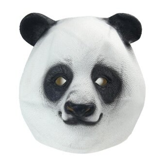 Natural Rubber Panda Head Party Halloween Masquerade Masks(Black And White) - intl