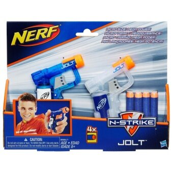 HASBRO NERF JOLT 2 PACK ฮาสโบร ปืนเนิร์ฟ โจลท์ ปืนแพ็คู่ 2 ชิ้น ลิขสิทธิ์แท้