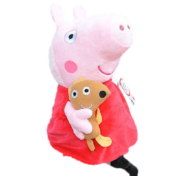New Peppa Pig Family Stuffed Soft Figures Toy Plush Doll 19CM/7.5inch Kids Gift image