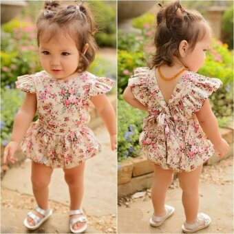 Newborn Infant Baby Girls Cotton Romper Jumpsuit Bodysuit ClothesOutfits 0-24M(6-12 months) - intl