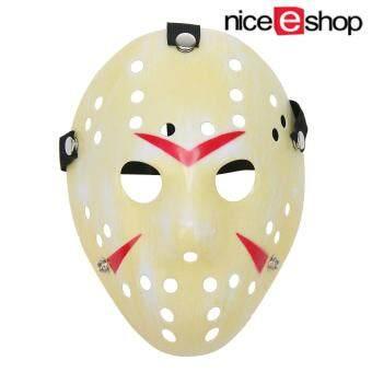 niceEshop หมอกจางสีเหลือง Jason หน้ากากฮัลโลวีนปาร์ตี้น่าสนุกคอสเพลย์บอล Custume หน้ากากใบหน้า