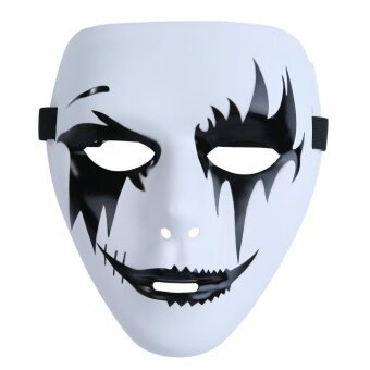 nonvoful Fashion Cosplay Mask For Halloween Plastic White Full Face Masks For Masquerade Party - intl