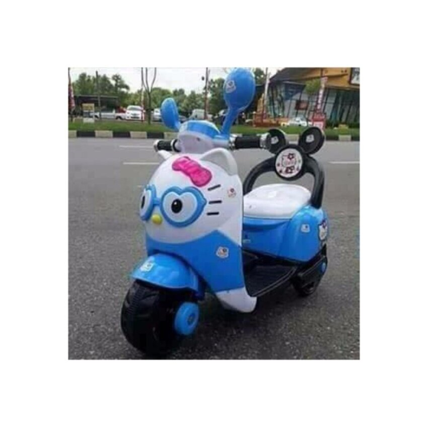 Np Toys รถแบตเตอรี่เด็ก รถเด็กนั่ง มอไซค์แมวเหมียว image
