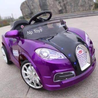 Np Toys รถแบตเตอรี่เด็ก รถเด็กนั่ง bugatti 2มอเตอร์ บังคับรีโมทวิทยุและขับธรรมดา LN175728