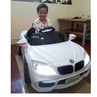 Np Toys รถเด็กนั่ง แบตเตอรี่ บังคับวิทยุด้วยรีโมทและขับธรรมดา LN5618 (White)