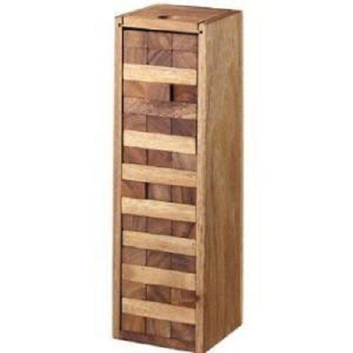 เจนก้า ตึกถล่ม ของเล่นไม้  Number Block (Size S) Wooden JenGa  Game  (เกมส์คอนโดถล่ม) 54 Pcs