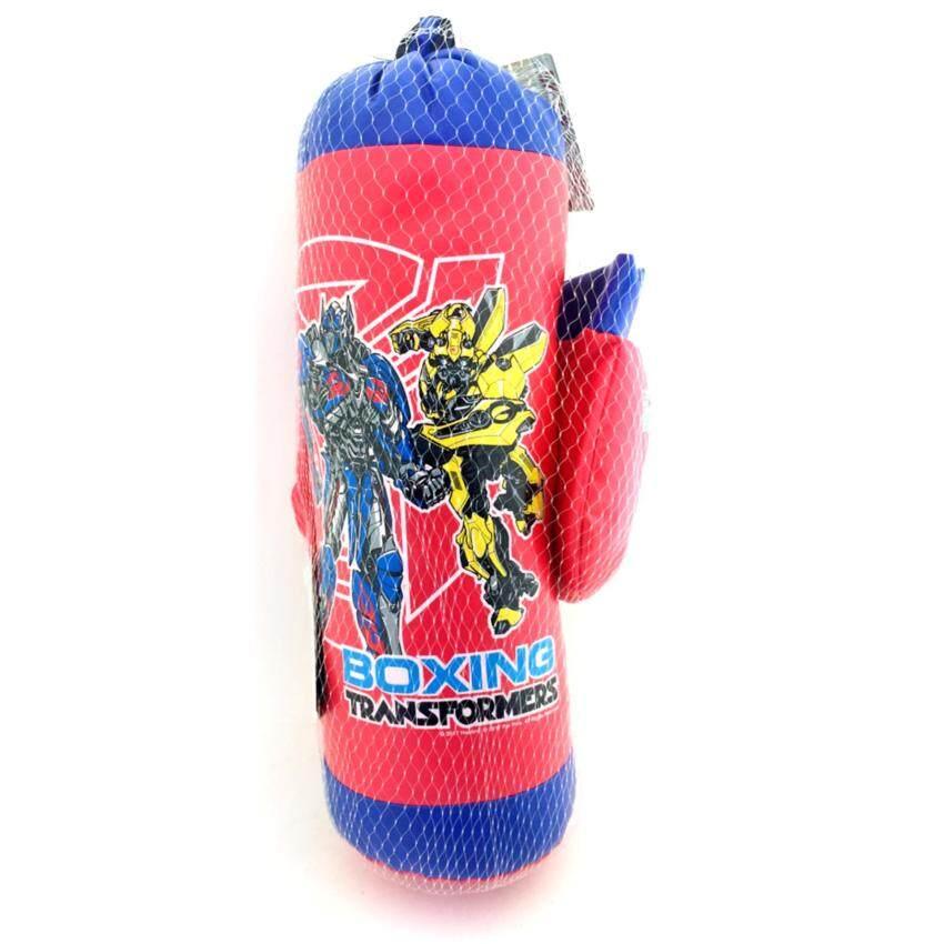 One Price Toys - Boxing Set Transformers - ชุดกระสอบทราย และ นวมต่อยมวย ชกมวย ของเด็กเล็ก รุ่นทรานฟอร์เมอร์ - สีน้ำเงิน