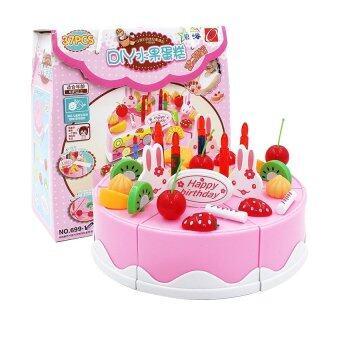 ONE TOYS ของเล่นเด็ก ชุดหั่นเค้กวันเกิด (สีชมพู)