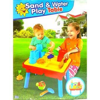 ONE TOYS SANDWATER PLAY TABLE โต๊ะกิจกรรม 2 ชั้นเล่นทรายเล่นน้ำ พร้อมอุปกรณ์ ขนาด 54 CM