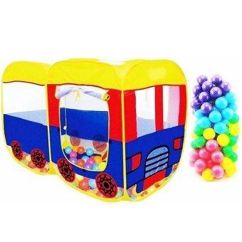One Toysเต้นท์รถบัส+บอล100ลูกPop up House