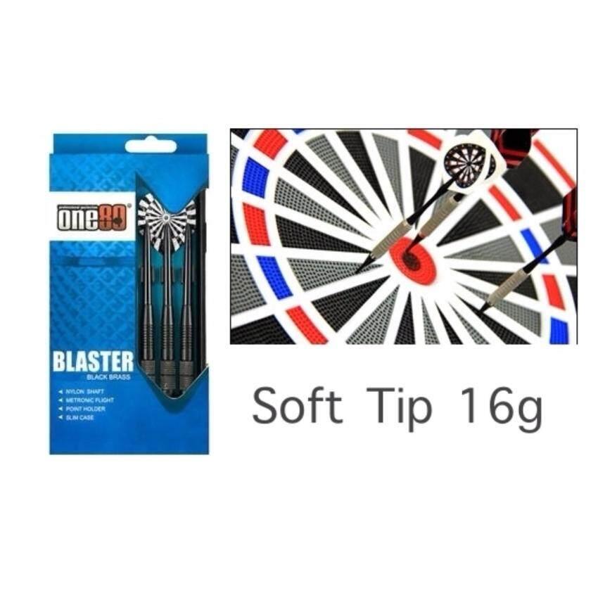 ONE80 Darts Blaster Black Brass-Soft Tip 16g