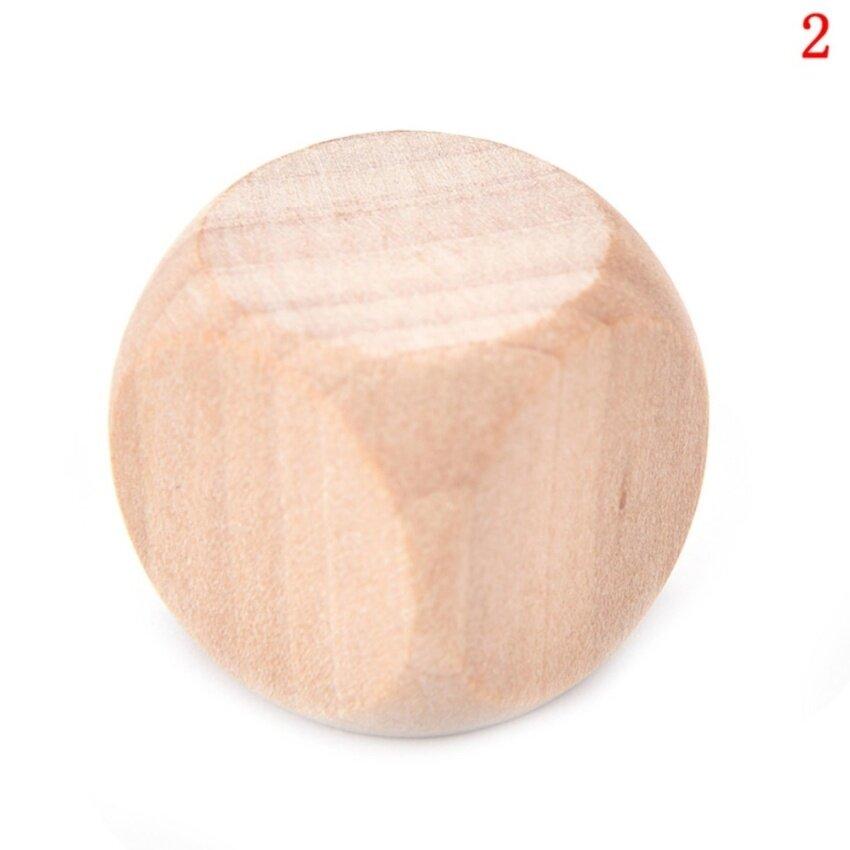 ขาย Original Wood 6 Sided Dice Blank Faces For Printing Engraving Toys size :2cm - intl