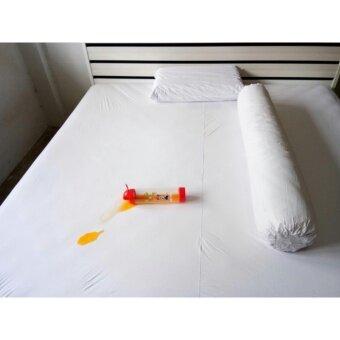 P&P Sheetคลุมที่นอนกันน้ำกันฉี่เด็ก 6ฟุต (สีขาว)