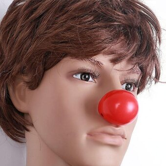 Party Clown Red Nose Squeezing Halloween Festival CelebrationTricky Custome - intl