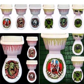 Party Halloween Toilet Seat Cover Festival Sticker Prop HomeBathroom Decor - intl