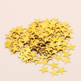 Pentagram Bright Piece Birthday Party Confetti Wedding Decoration - Gold - intl