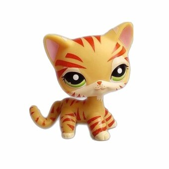 Harga Pet Shop Animal Yellow tiger cat Doll Figure Child Toy FREE SHIPPIGift Figure Doll Christmas birthday girl gift toys - intl