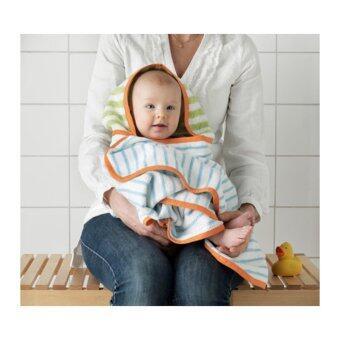 ผ้าเช็ดตัวเด็กมีฮู้ด ฟ้าอ่อน เขียว(Me Time)