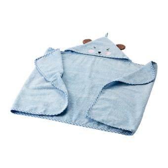 ผ้าเช็ดตัวเด็กมีฮู้ด ฟ้าอ่อน(Me Time)