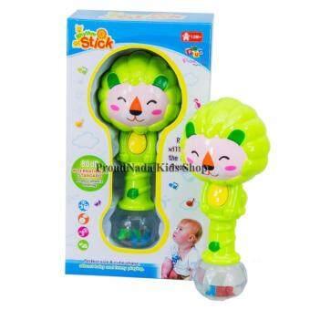 ของเล่นเด็กเขย่ามือเด็ก(สีเขียว) PHYTHM STICK 8822