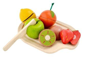 PlanToys Assorted Fruit Set ชุดหั่นผลไม้ Wooden Toys