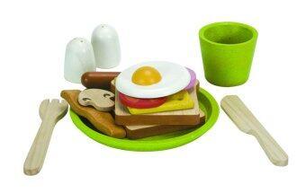 PlanToys Breakfast Menu ชุดอาหารเช้า Wooden Toys Food Set ของเล่นไม้ แปลนทอยส์ เสริมพัฒนาการ เด็ก เสริม ทักษะ และ การเรียนรู้