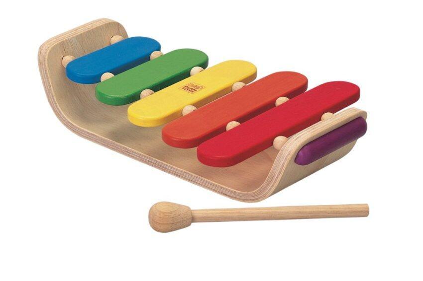 PlanToys Oval Xylophone ชุดของเล่นไม้ เครื่องดนตรี ระนาด 5 เสียง
