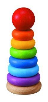 PlanToys Stacking Ring วงแหวนสวมหลัก หลากสีสัน Wooden Toy ของเล่นไม้ ของเล่น เสริมพัฒนาการ ทักษะ และ การเรียนรู้