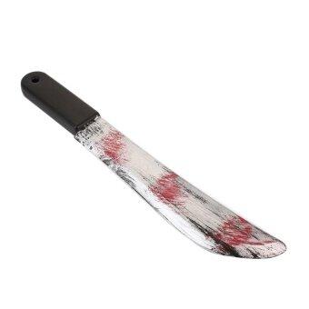 Plastic Bloody Halloween Prop Weapons Fancy Knife Cleaver Sickle Dress Costume - intl