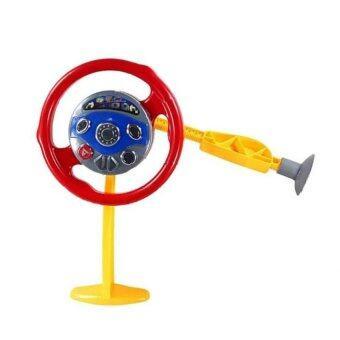 PLAY ARAI พวงมาลัยหัดขับรถ ดูดติดกระจก มีเสียง แสงไฟ (สีเหลือง/แดง)