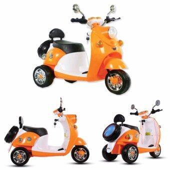 Play Us รถมอเตอร์ไซค์แบตเตอร์รี่ มีไฟหน้า-หลัง มีเสียงเพลง - สีส้ม รุ่น FW-1357-Orange