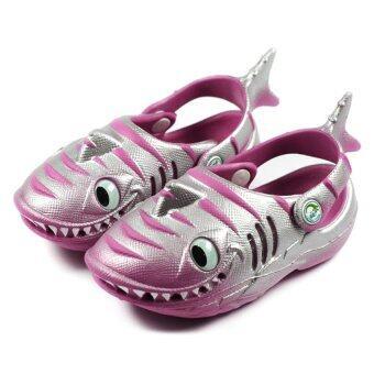 Polliwalks - Shark Raspberry/Silver