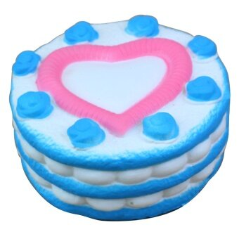 Portable Soft Kawaii Artificial Squishy Love-heart Pattern CakeShape Cream Scented Super Slow Rising Simulation Relieves StressAnxiety Toy for Children ...