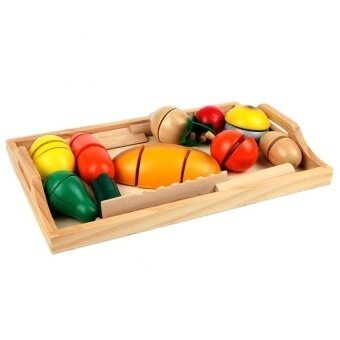 Pretend Role Play Kitchen Cutting Fruit Vegetable Food Toy Setchild Gift- - intl