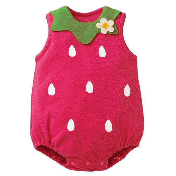 เสื้อแฟชั่นสไตล์การ์ตูนเด็กเสื้อแดงสตรอเบอรี่