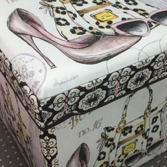 กล่องเก็บของ พับได้ มีฝาปิด