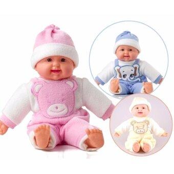 ตุ๊กตาเด็กกดหน้าอกหัวเราะได้ (ไซส์ขนาดใหญ่เท่าเด็กทารกจริง)